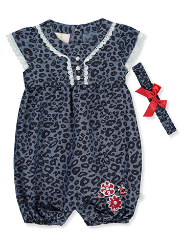 Duck Duck Goose Baby Girls' Romper with Headband - CookiesKids.com