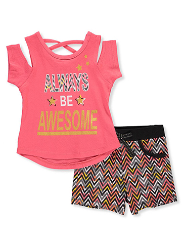 Real Love Baby Girls' 2-Piece Short Set Outfit - CookiesKids.com