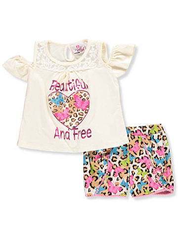Real Love Little Girls' 2-Piece Short Set Outfit (Sizes 4 – 6X) - CookiesKids.com