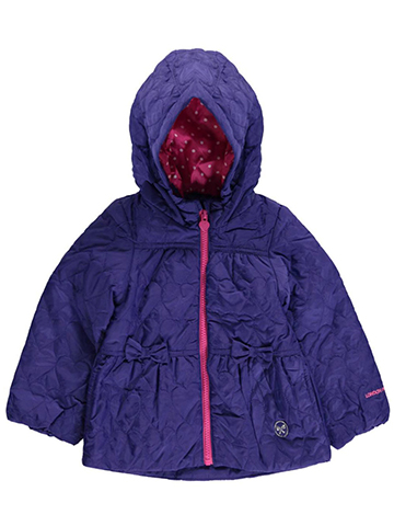 "London Fog Baby Girls' ""Quilted Hearts"" Jacket - CookiesKids.com"