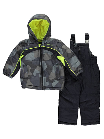 "London Fog Baby Boys' ""Cold Camo"" 2-Piece Snowsuit - CookiesKids.com"