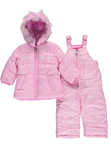"London Fog Baby Girls' ""Snow Flower"" 2-Piece Snowsuit - CookiesKids.com"