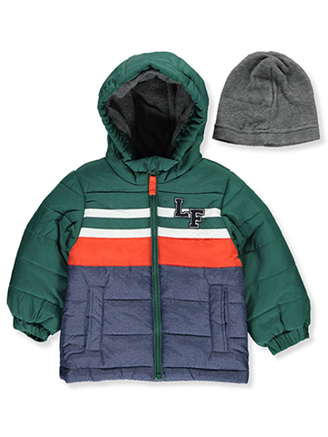London Fog Baby Boys' Jacket with Beanie - CookiesKids.com