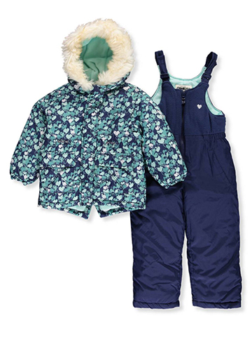 London Fog Little Girls' Toddler 2-Piece Snowsuit (Sizes 2T – 4T) - CookiesKids.com