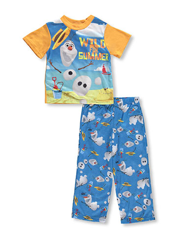 Disney Frozen Boys' 2-Piece Pajamas Featuring Olaf - CookiesKids.com