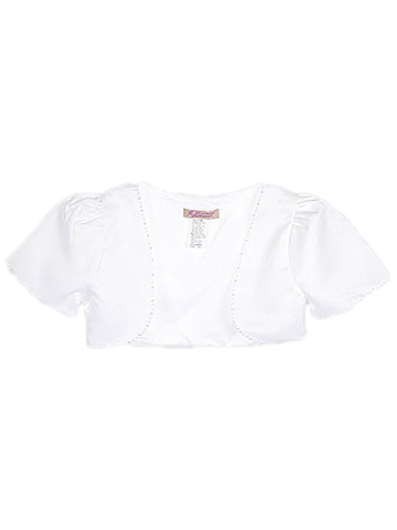 "The Communion Collection ""Pearly Trim"" Satin Bolero (Sizes 6 – 18) - CookiesKids.com"