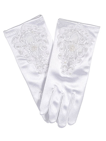 "The Communion Collection ""Beads & Blossoms"" Gloves (Size 7 - 16) - CookiesKids.com"