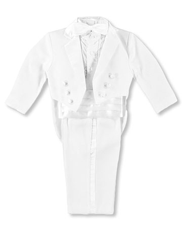 Kaifer Little Boys' Toddler 5-Piece Tuxedo with Tails (Sizes 2T - 4T) - CookiesKids.com