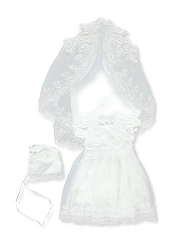 The Christening Collection Baby Girls' 3-Piece Set - CookiesKids.com