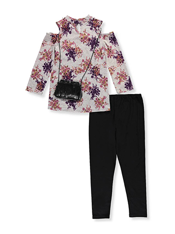 Amy Byer Big Girls' Plus Size 2-Piece Pants Set Outfit with Purse (Sizes 10.5 - 20.5) - CookiesKids.com