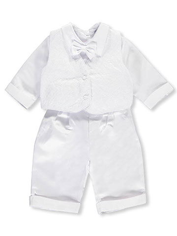 "Precious Angels Baby Boys' ""Cubed Embroidery"" 3-Piece Christening Tuxedo - CookiesKids.com"