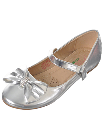 "Angels Girls' ""Jewel Band Bow"" Flats (Youth Sizes 13 – 4) - CookiesKids.com"
