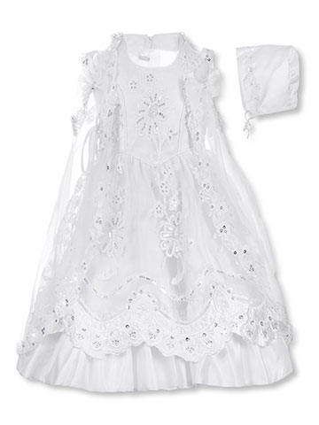 Angels the Couture Baby Girls' 3-Piece Christening Outfit - CookiesKids.com