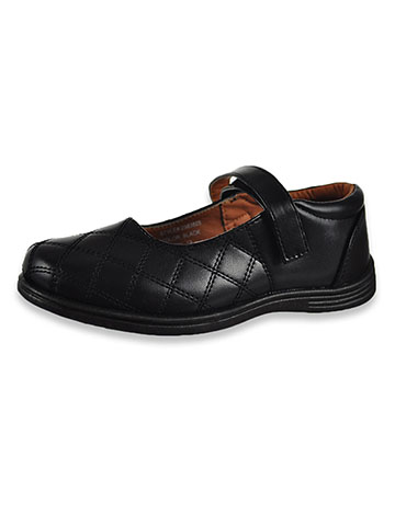 27-39 Girls School Mary Jane Sandals Uniform Dress Shoes Strap Flats Black White