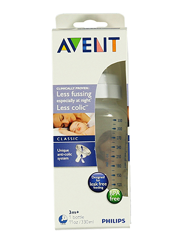 Avent Classic Medium Flow Bottle (11 oz.) - CookiesKids.com