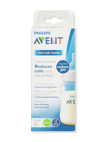 Avent Wide-Neck Anti-Colic Bottle (9 oz.) - CookiesKids.com