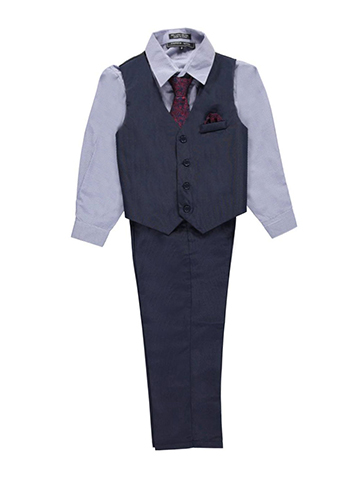 "Andrew Fezza Big Boys' ""Boardroom"" 4-Piece Vest Set (Sizes 8 – 20) - CookiesKids.com"