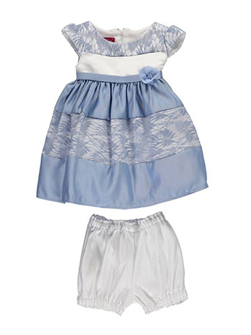 "Princess Faith Baby Girls' ""Banded Lace"" Dress with Diaper Cover - CookiesKids.com"