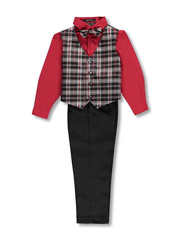Andrew Fezza Big Boys' 4-Piece Vest Set (Sizes 8 – 20) - CookiesKids.com