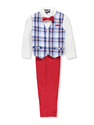Happy Fella Boys' 4-Piece Vest Set - CookiesKids.com