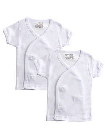 Luvable Friends 2-Pack Unisex Baby S/S Side Snap Shirts - CookiesKids.com
