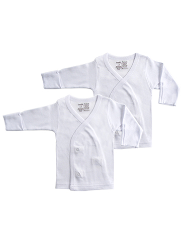 Luvable Friends 2-Pack Unisex Baby L/S Side Snaps Shirts - CookiesKids.com
