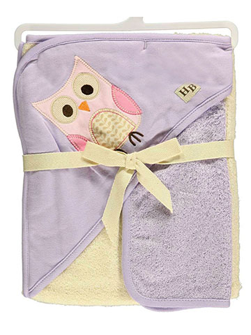 "Hudson Baby ""Owl"" Hooded Towel & Washcloth Set - CookiesKids.com"