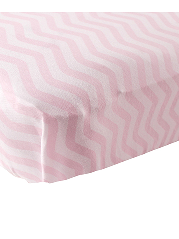 "Luvable Friends ""Soft Zigzag"" Fitted Crib Sheet (28"