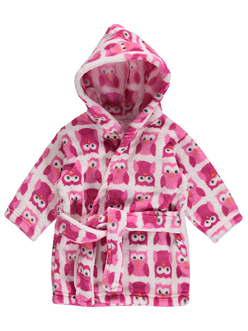 "Luvable Friends Baby Girls' ""Sweet Owl"" Robe - CookiesKids.com"