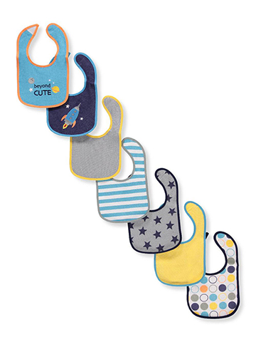 Luvable Friends Baby Boys' 7-Pack Bibs - CookiesKids.com