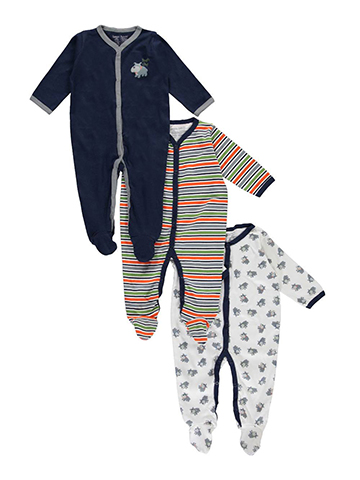 "Luvable Friends Baby Boys' ""Tough Guy"" 3-Pack Coveralls - CookiesKids.com"