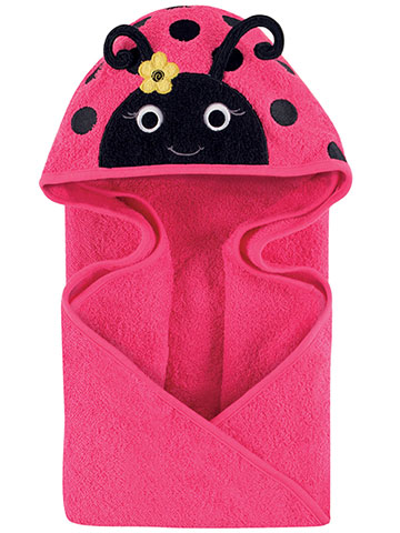 "Hudson Baby ""Ladybug Love"" Hooded Towel - CookiesKids.com"
