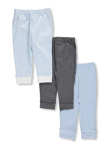 "Luvable Friends ""Classic Solids & Stripes"" 3-Pack Pants - CookiesKids.com"
