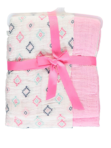 "Hudson Baby ""Sunset Soft"" 2-Pack Swaddle Blankets - CookiesKids.com"