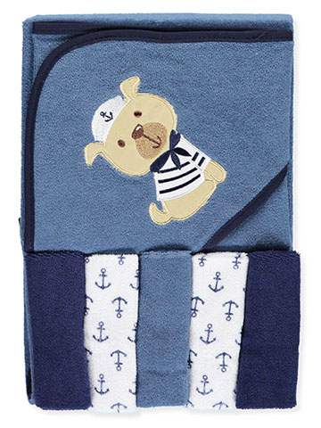 "Luvable Friends ""Puppy"" Hooded Towel & Washcloth Set - CookiesKids.com"