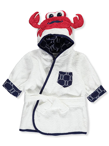 "Hudson Baby Baby Boys' ""Crabby Mustache"" Hooded Bathrobe - CookiesKids.com"