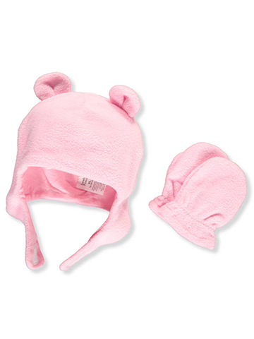 Luvable Friends Baby Girls' Beanie & Mittens Set - CookiesKids.com