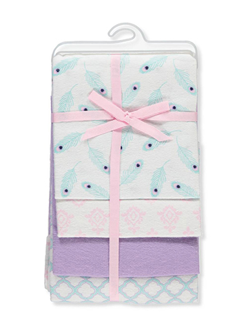 Hudson Baby 4-Pack Receiving Blankets - CookiesKids.com