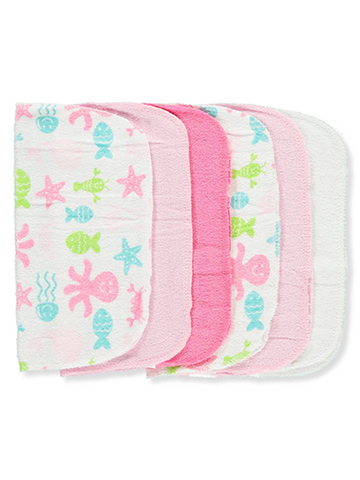 Luvable Friends 6-Pack Washcloths - CookiesKids.com