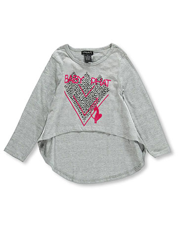 "Baby Phat Little Girls' ""Hard Edges"" L/S Top (Sizes 4 – 6X) - CookiesKids.com"