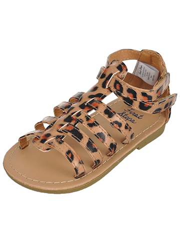 "First Steps by Stepping Stones Baby Girls' ""Leather Leopard"" Sandals - CookiesKids.com"