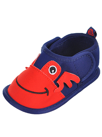 "First Steps by Stepping Stones Baby Boys' ""Crabby Smiles"" Water Shoe Booties - CookiesKids.com"