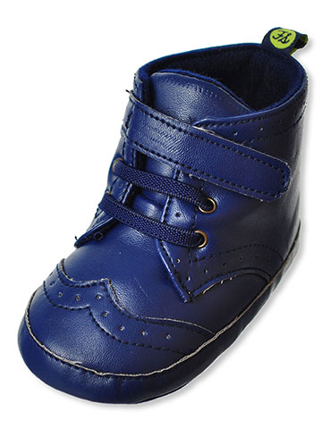 First Steps by Stepping Stones Baby Boys' Hi-Top Oxford Booties - CookiesKids.com