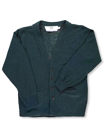 Blueberry Knitting Big Boys' L/S Unisex Cardigan Sweater (Sizes 8 - 20) - CookiesKids.com
