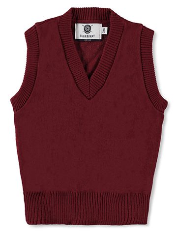 Blueberry Knitting Adult Unisex V-Neck Sweater Vest (Sizes S – XXL) - CookiesKids.com