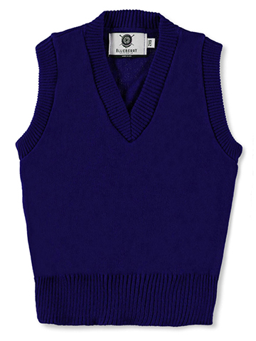 Blueberry Knitting Unisex V-Neck Sweater Vest (Sizes S – XXL) - CookiesKids.com