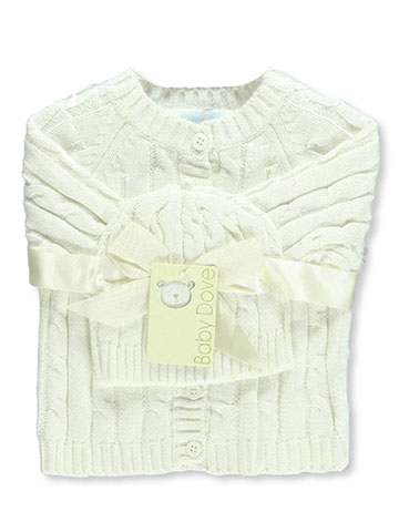 Baby Dove Unisex Baby Cable Knit Cardigan & Beanie Set - CookiesKids.com