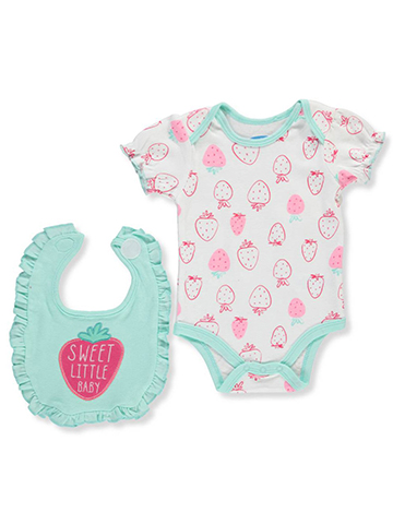 Bon Bebe Baby Girls' Bodysuit & Bib Set - CookiesKids.com