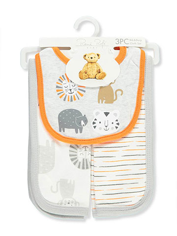 Rene Rofe 3-Piece Bib & Burp Cloths Set - CookiesKids.com