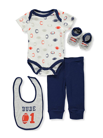Bon Bebe Baby Boys' 4-Piece Layette Set - CookiesKids.com